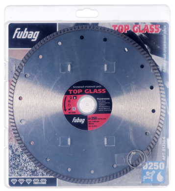 Алмазный диск FUBAG Top Glass_ диам. 250/30-25.4 81250-6